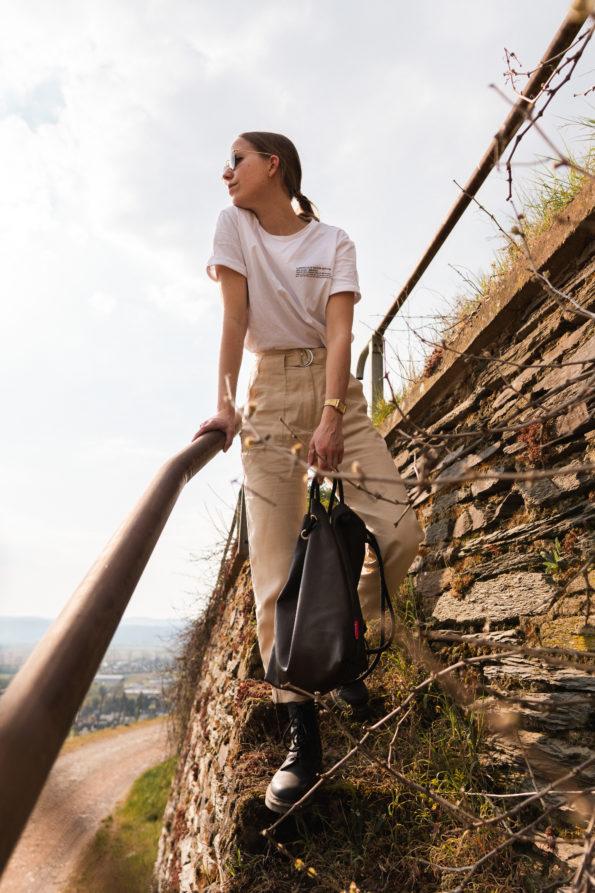 Handtasche-Rucksack-Wandelbare-Echtledertasche-Braun-Herbstfarbe-Herbstkollektion