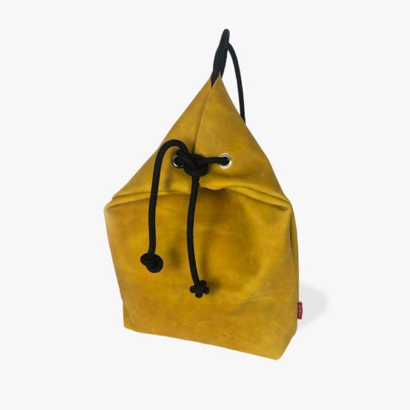 Senfgelber-Lederrucksack-Echtlederrucksack-Handgefertigert-Luxusrucksack