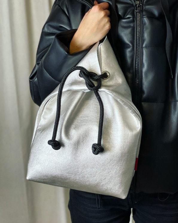 Echtleder-Rucksack-Handtasche-Flexible-Tasche