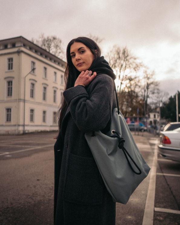 Säckle-Mintgrün-Maxi-Handtasche